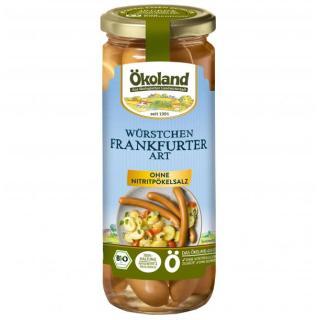 Bio Frankfurter im Glas